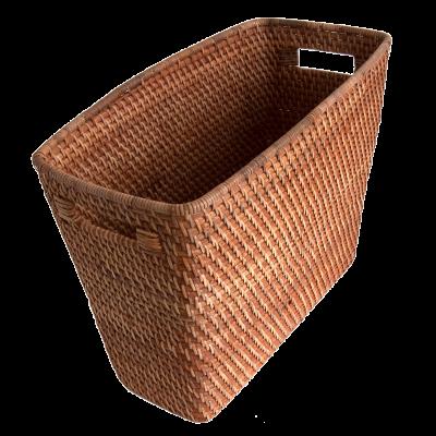 how to cut a wicker basket