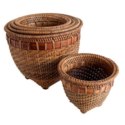 Set of 5 Fine Round Plant Pot Holders