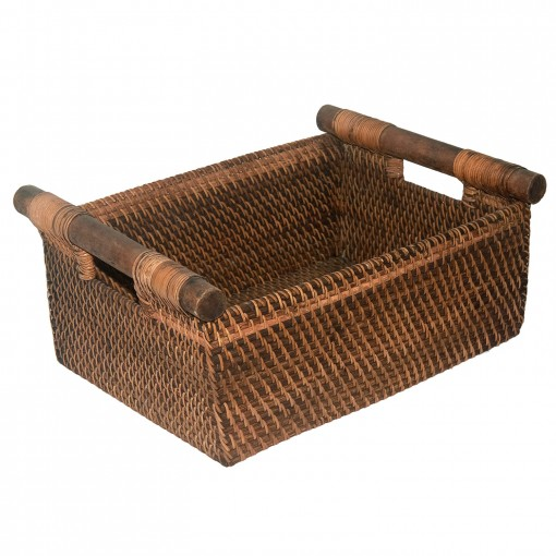 ... made and unusual basket from Lombok with wooden carrying handles