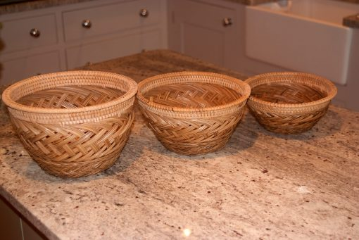 wicker bowls