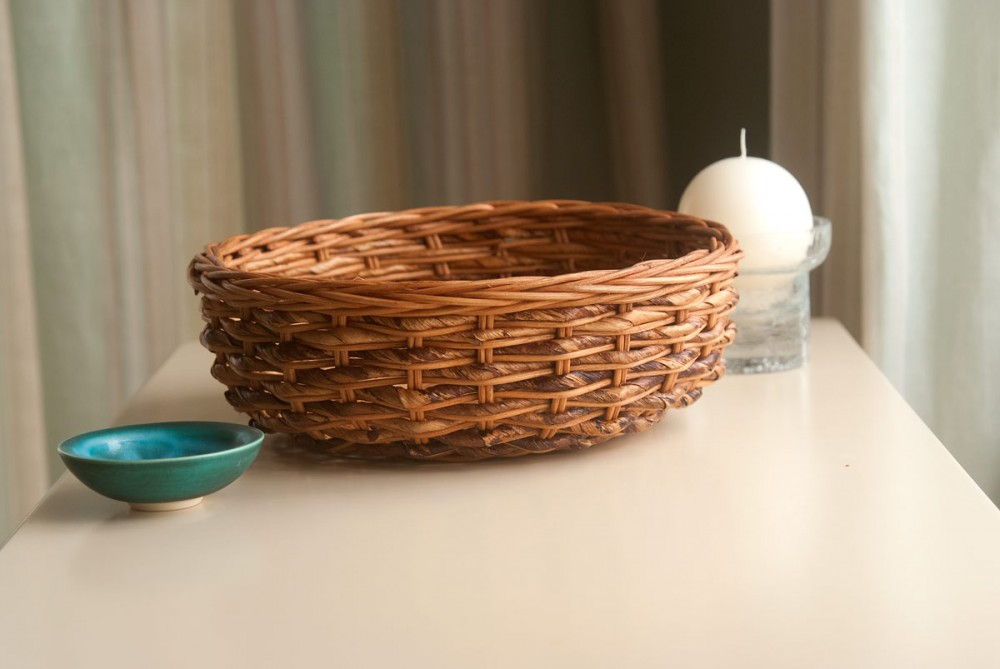 wicker fruit bowl