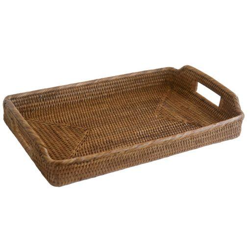 rectangular wicker tray