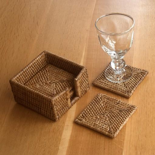 woven rattan coasters