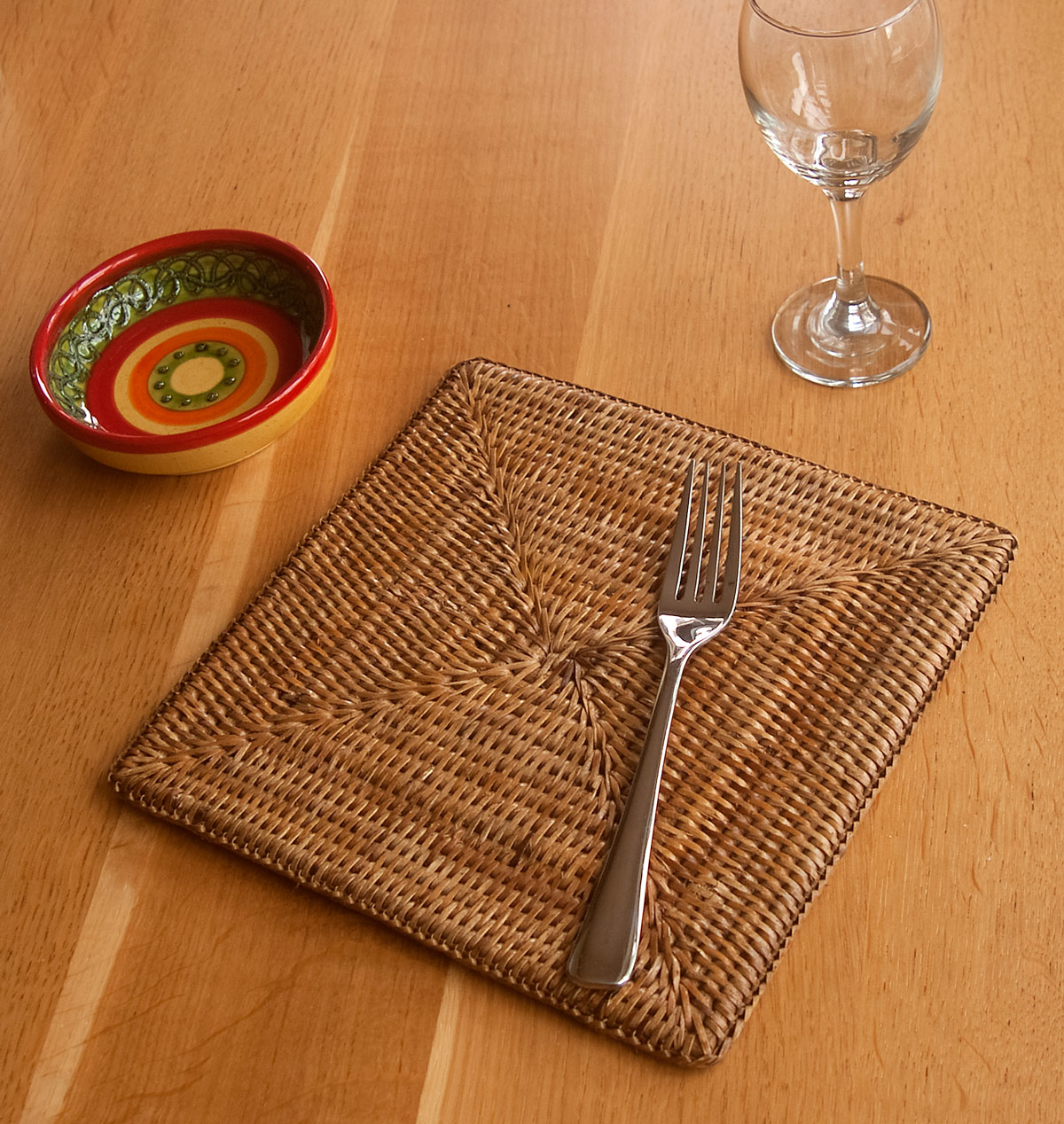 woven rattan placemat