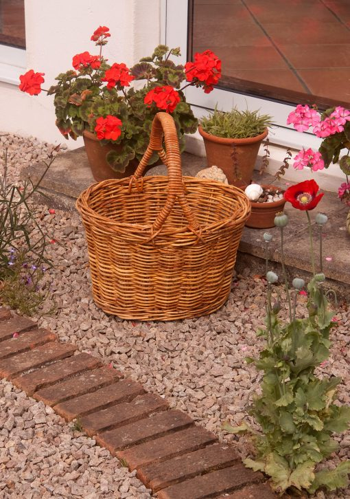 rattan shopping basket