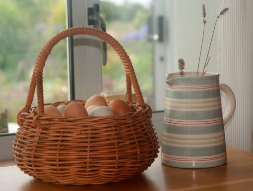 wicker egg collecting basket