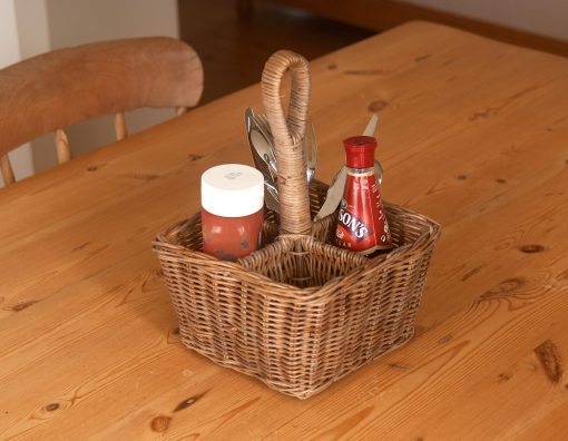 wicker condiment carrier