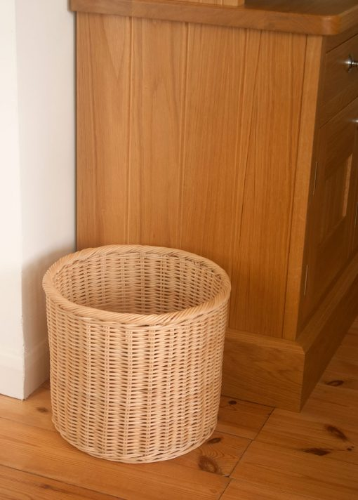 wicker wastepaper basket