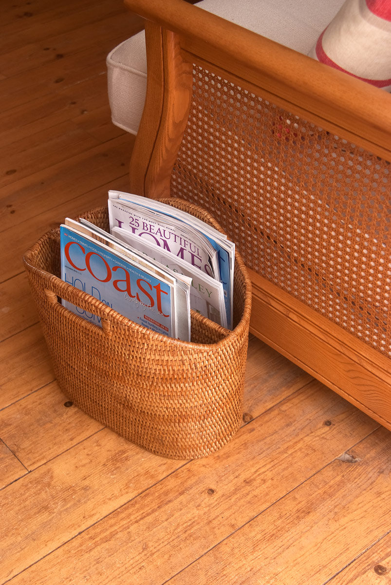 wicker magazine basket