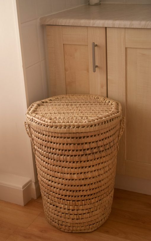 Round Palm Linen Basket