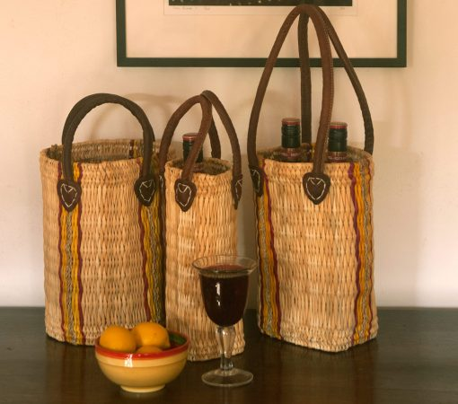 wicker bottle carriers