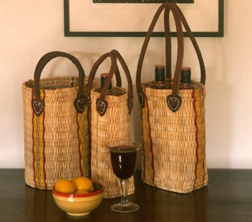wicker bottle carriers