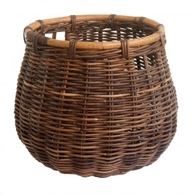 Doughnut Wicker Log Basket