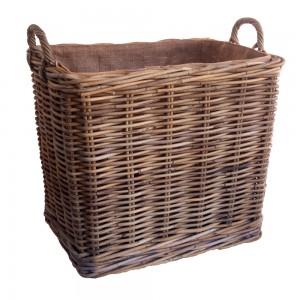 Rectangular Wicker Log Basket