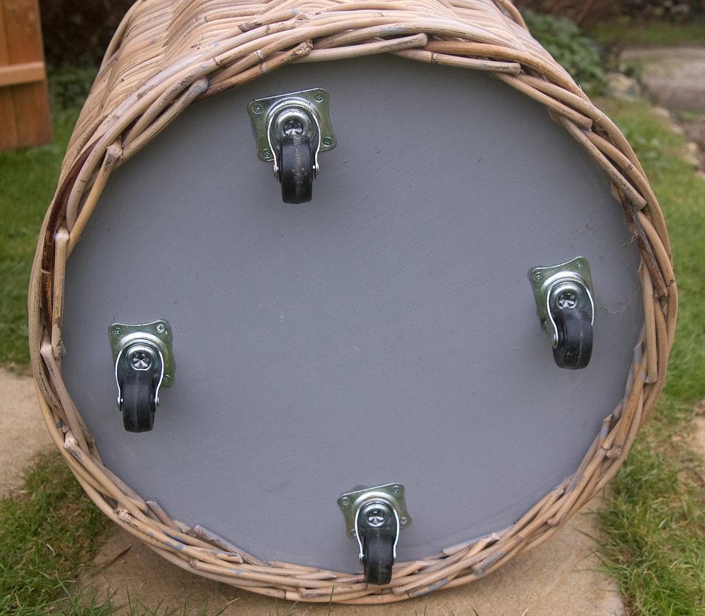 wheeled log basket