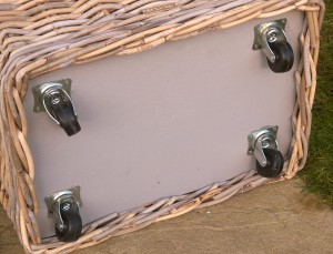 lined wheeled log basket