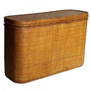 tall rattan chest