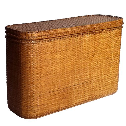 Tall Rattan Bed-End Chest