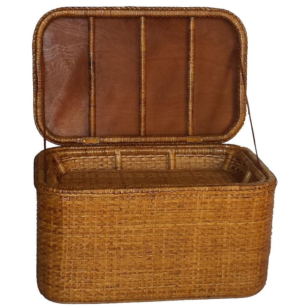 classic storage chest with tray shelf