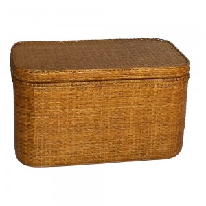 oblong rattan trunk