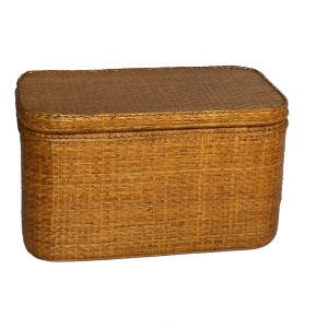 Rattan Storage Chest with Shelf