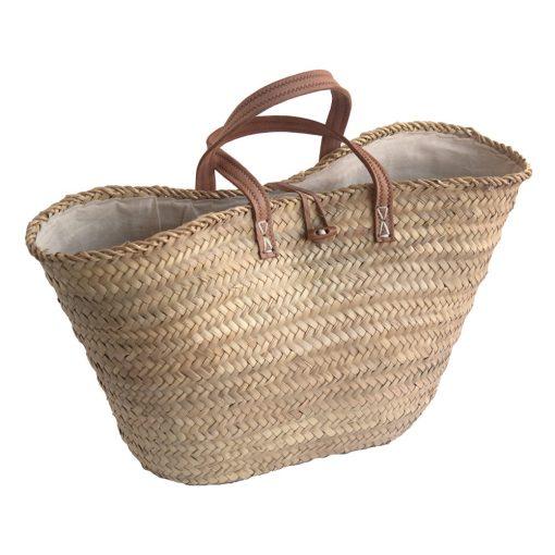 Lined French Market Basket