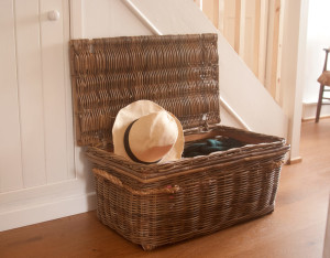 small wicker trunk