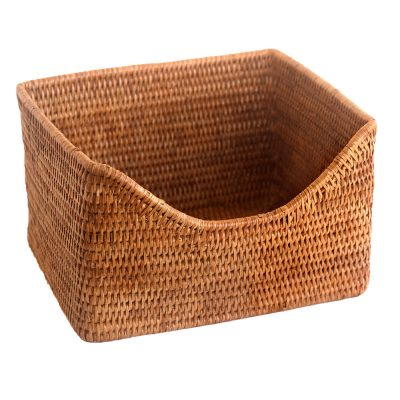 Wicker Basket with shaped front