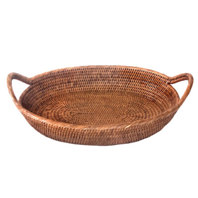 Oval Shaped Tray Basket with handles