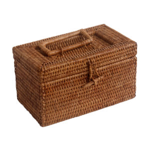 wicker trinket box