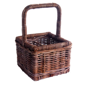 Dark Wicker 4 Bottle Carrier