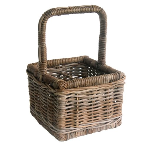 Grey Wicker 4 Bottle Carrier