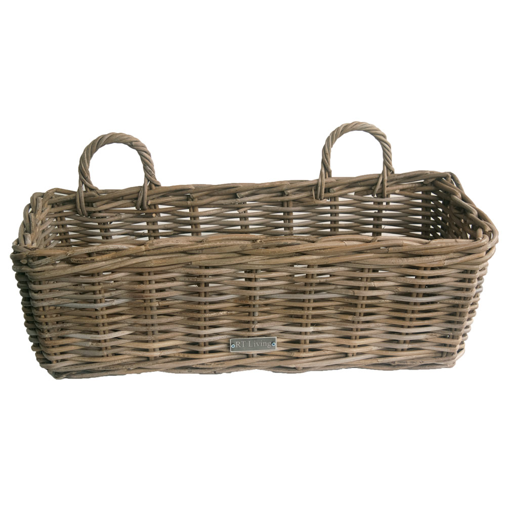 wicker plant pot holder