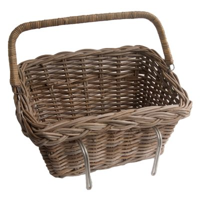 Easy Lift-off Grey Wicker Bicycle Basket