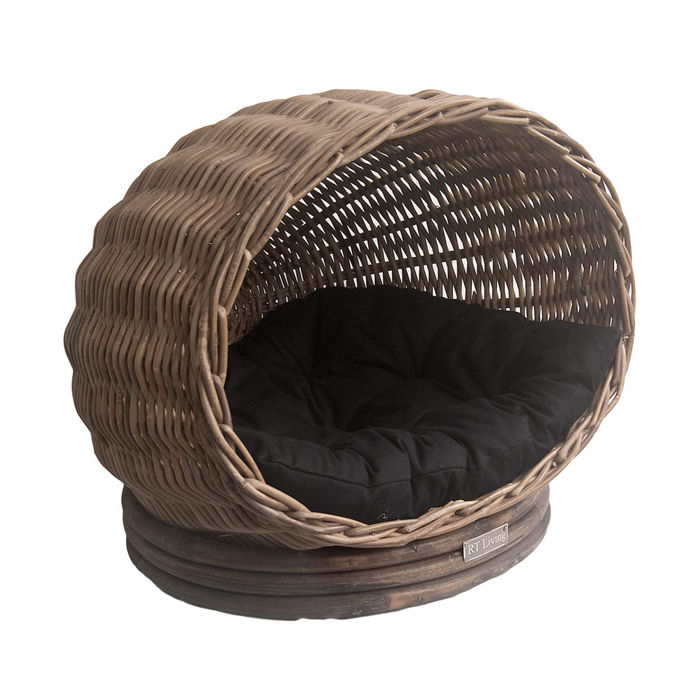 Grey Wicker Pet Pod