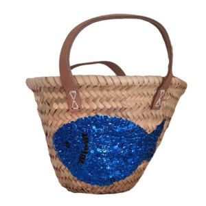 Childs Palm Shopping Basket Sequin Fish