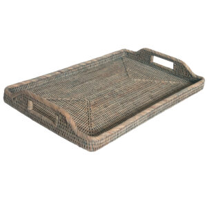 Large Grey Oblong Serving Tray