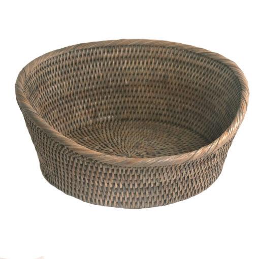 Round Grey Shaped Fruit Bowl