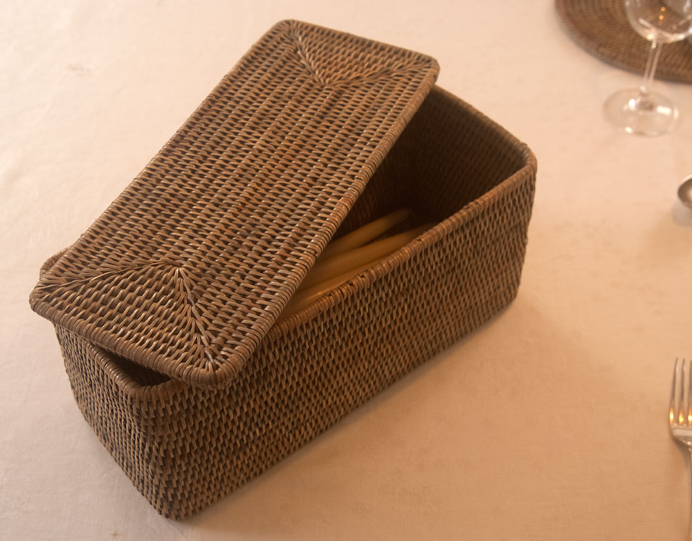 Grey Lidded Storage Box with Rounded Corners