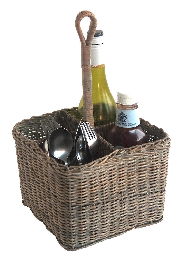 Large Grey Condiment Basket