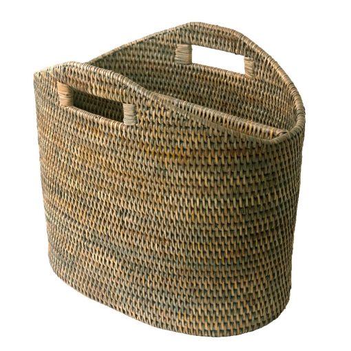 Grey Fine Magazine Basket