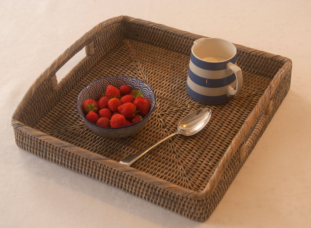 Square Grey Serving Tray