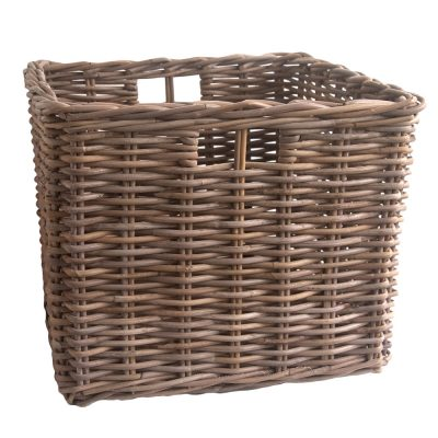 Square Grey Rattan Log Basket