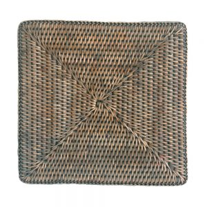 Square Grey Rattan Placemats
