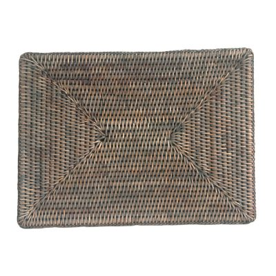 Rectangular Grey Rattan Placemats