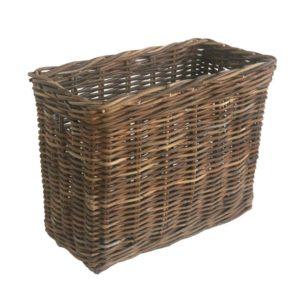 Small Tall Narrow Grey Rattan Storage Basket