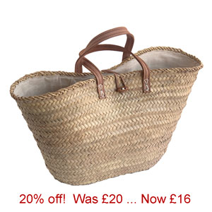 Offer-Lined Palm French Market Basket