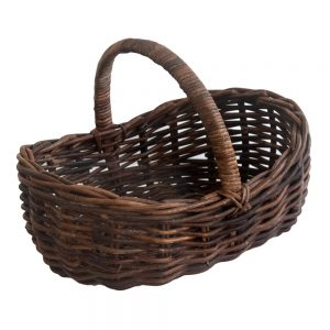 Croco Rattan Scooped Shopping Basket