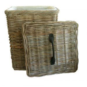 Square Grey Laundry Basket