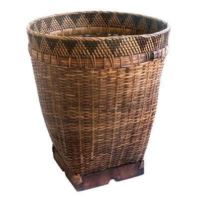 Small Bamboo Laundry or Storage Basket